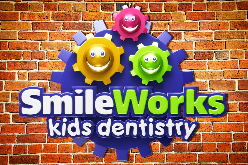 SmileWorks Kids Dentistry Custom Logo and Wall Signage