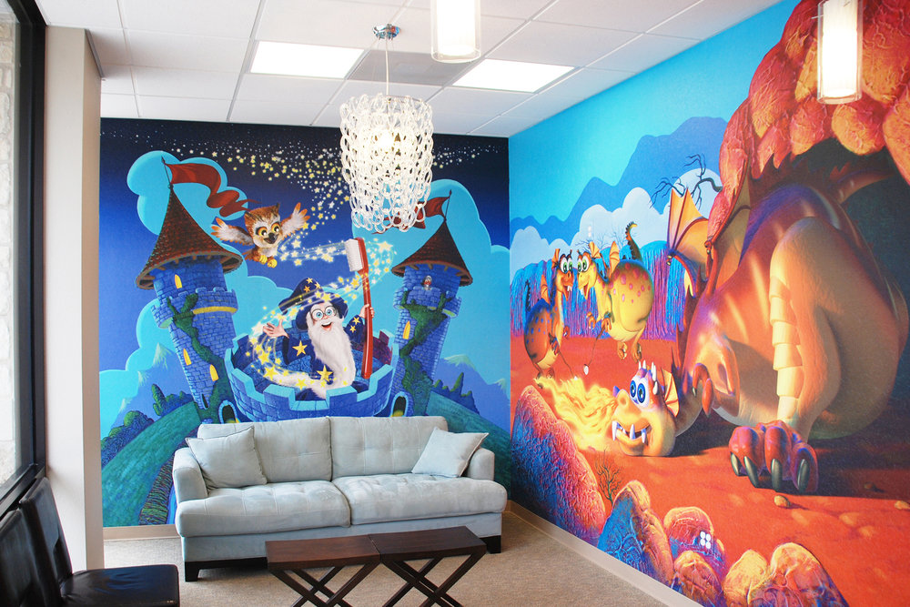 Custom Enchanted Theme Waiting Room Wall Murals