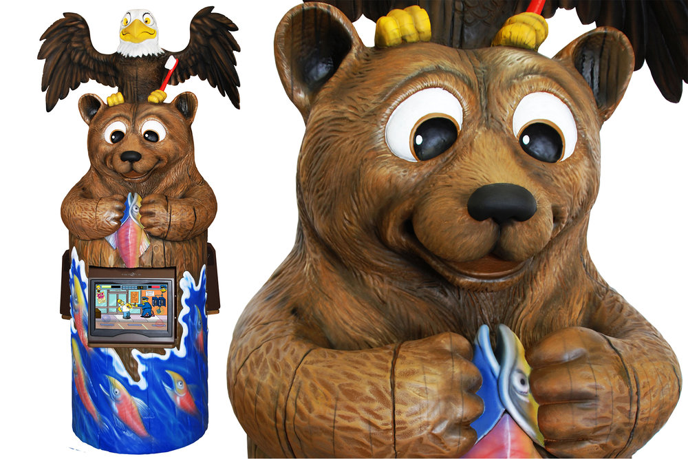 Northwood Bear Themed Game Kiosk