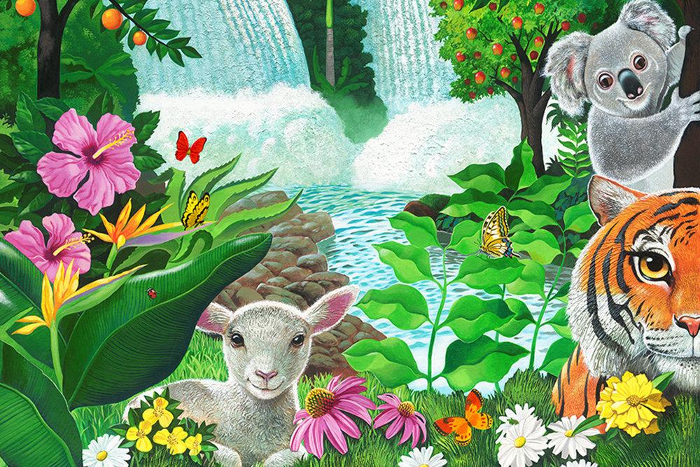 Church Nursery Garden Of Eden Wall Mural