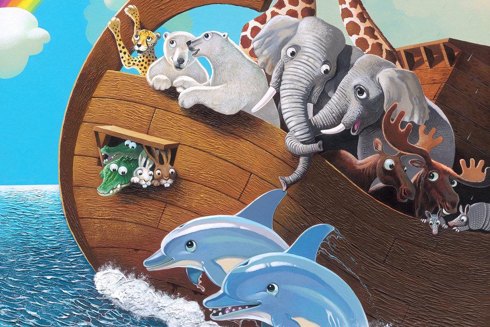 Noah's Ark On The High Seas Wall Mural