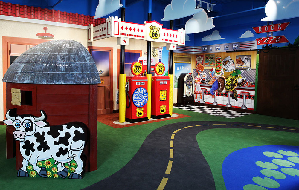 Entrance Looking In The Route 66 Ok Korral Play Room