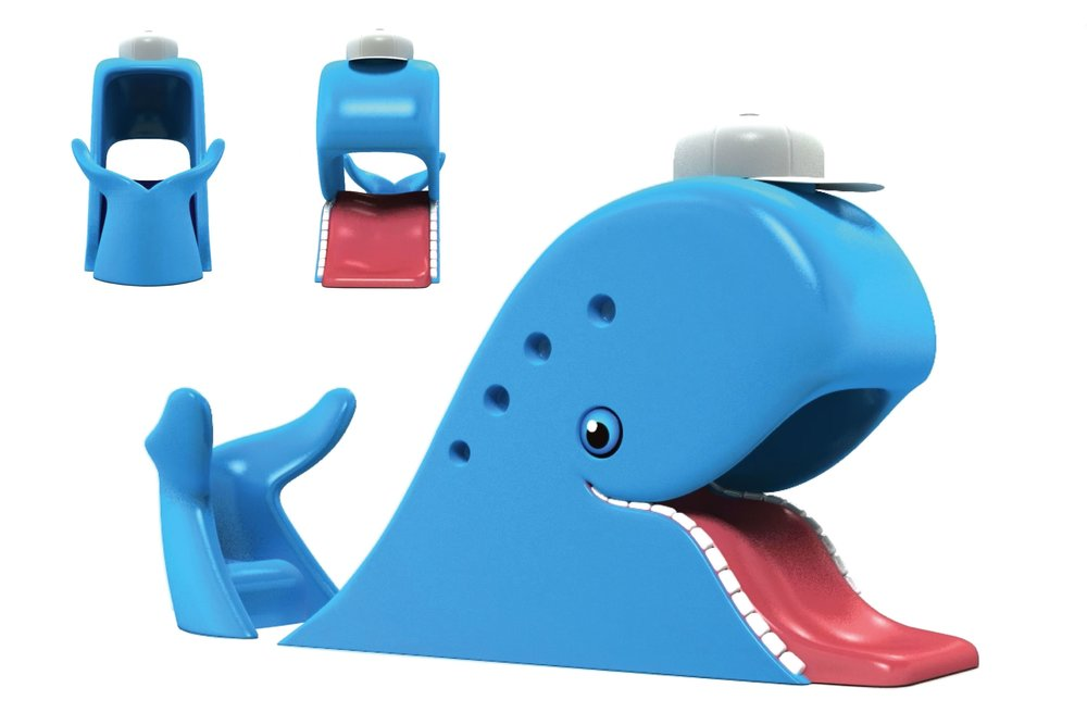 Custom Designed and Fabricated Blue Whale Giant Play Slide