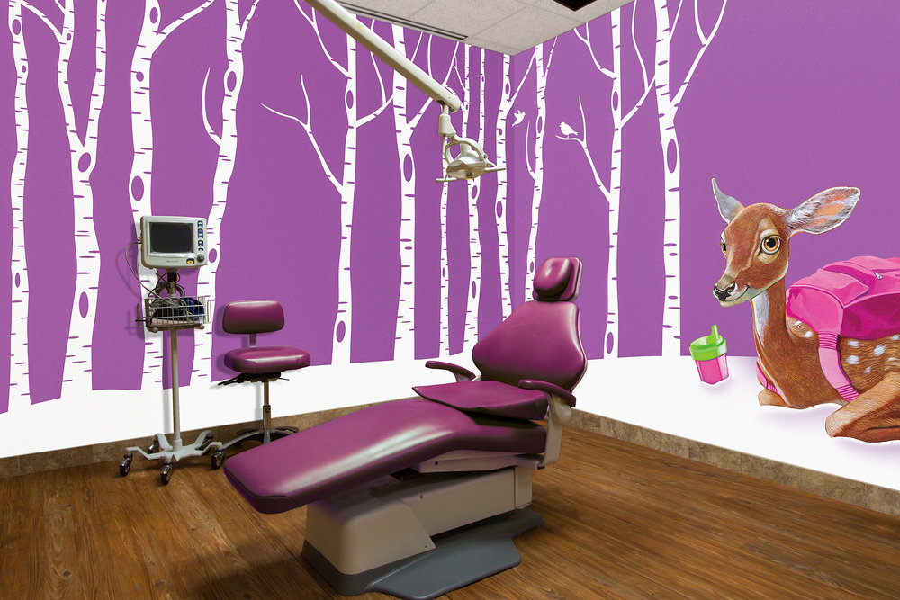 OneDent Northwood Themed Patient Treatment Room Mural