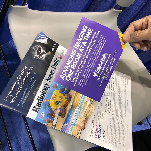 First day of transforming the patient experience. Take a look at our ad on the front page of Radiology News Today. #rsna2018 #transformingthepatientexperience