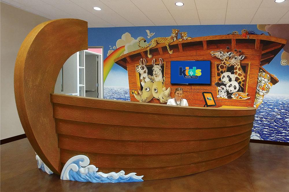 Custom Nursery Check-In Ark Desk