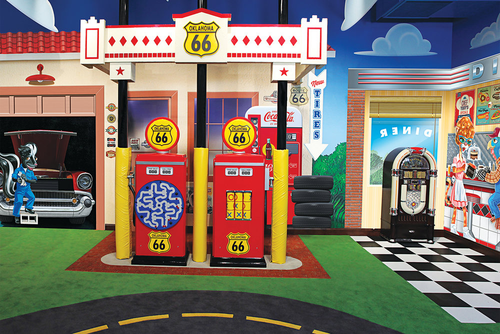 Route 66 Diner and Gas Station Play Area