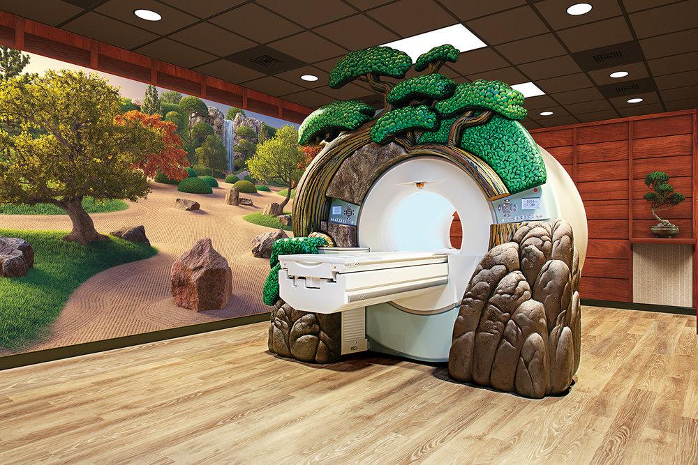 Zen Rock Garden Themed MRI Room