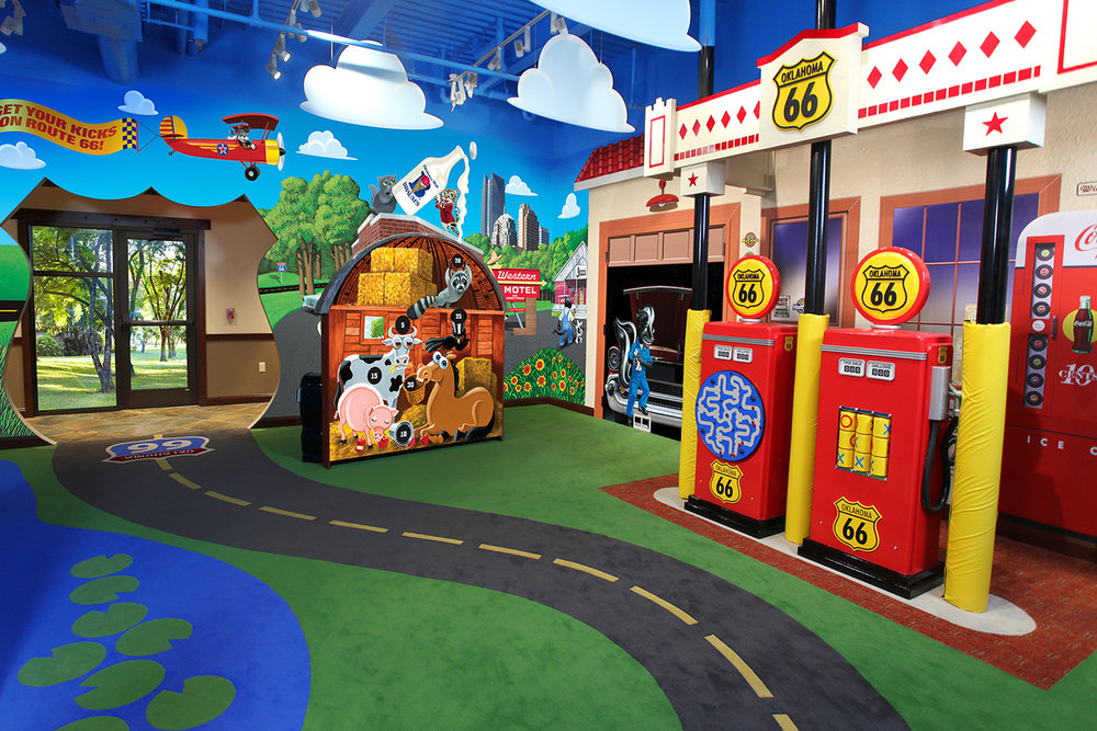 Interior Of Route 66 Themed Play Room