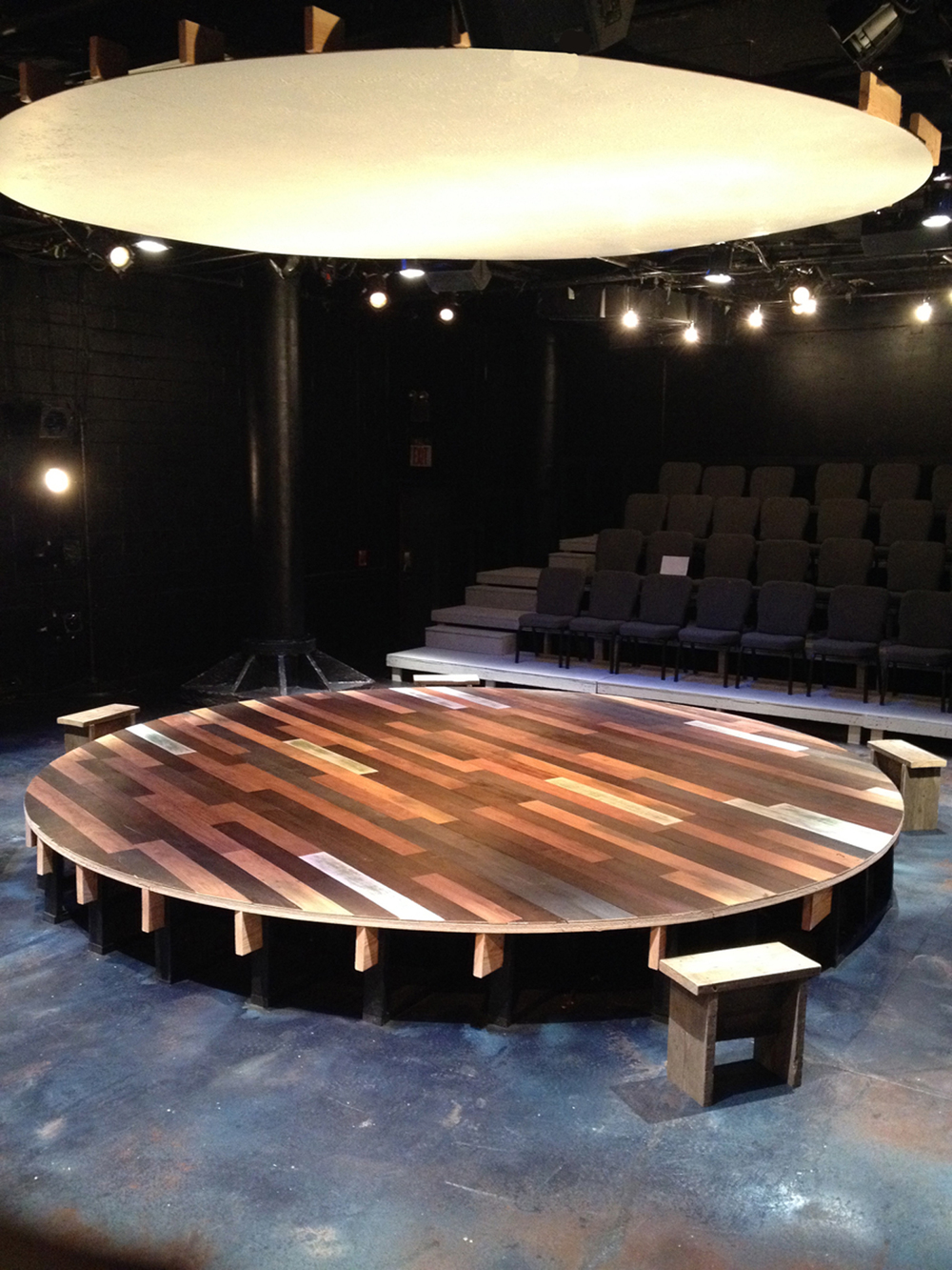 Family Play (1979 to Present) set, 2014, The New Ohio Theatre.