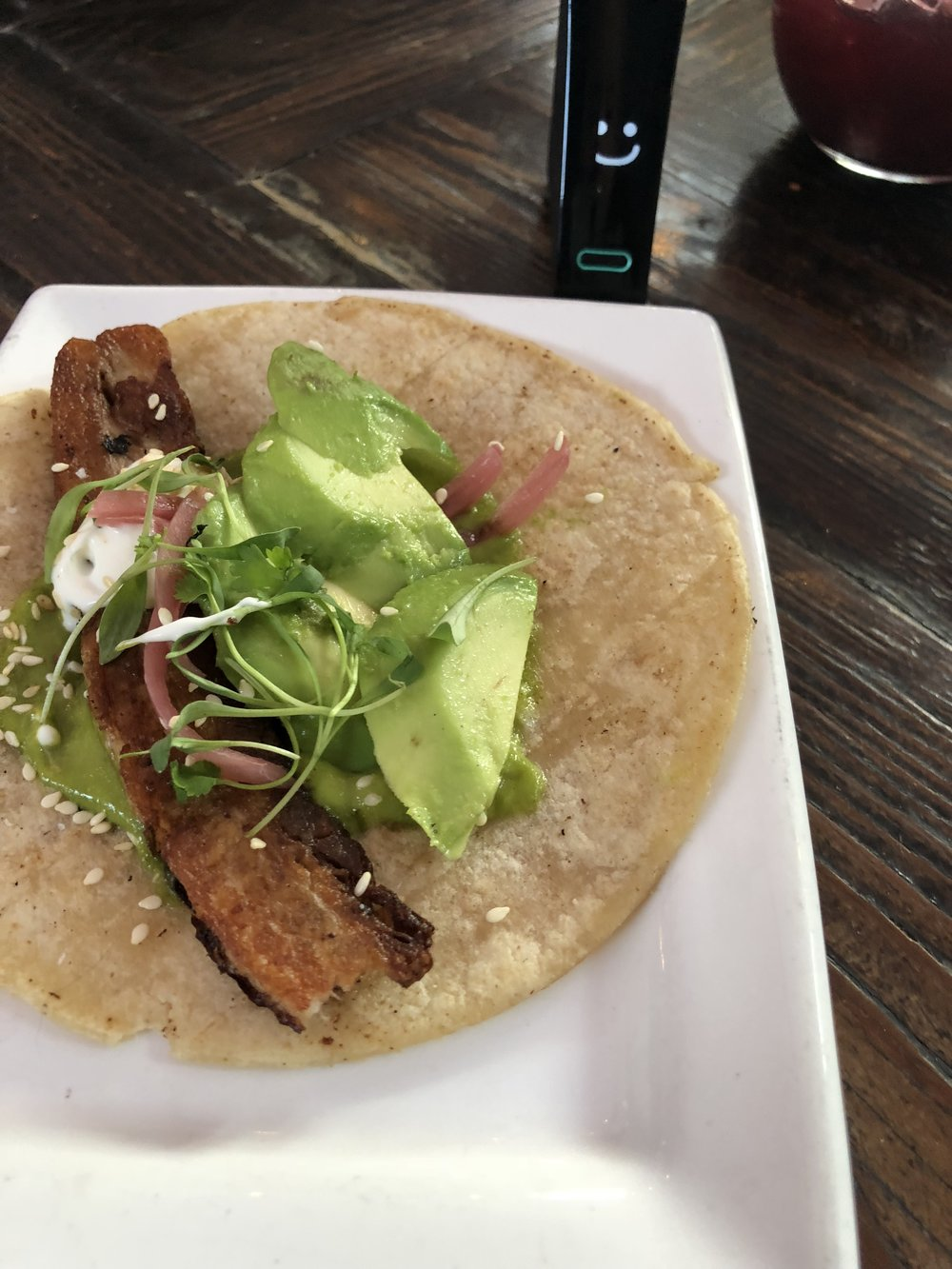 Pork Belly taco from restauration 12/9/17