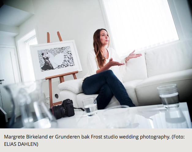 Margrete Birkeland er Grunderen bak Frost studio wedding photography (Foto: ELIAS DAHLEN)