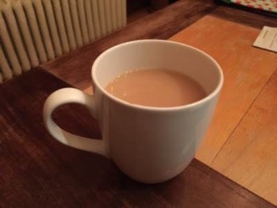 The actual cup of tea for this morning's ritual