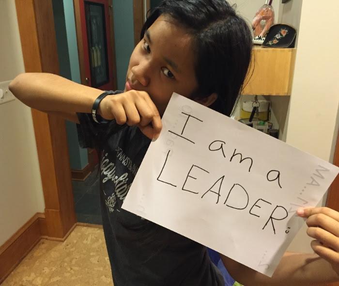 My tween rocking her leadership!