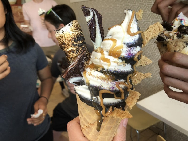 Now this is new: S'mores ice-cream cone with GLITTER!