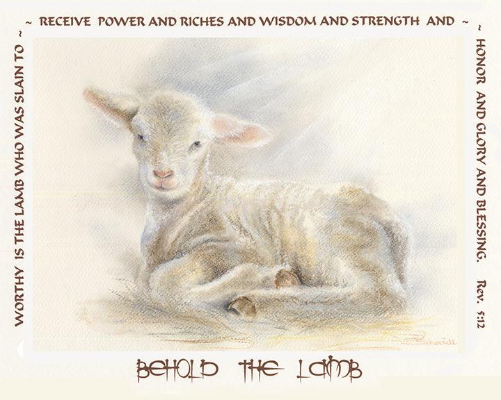 LITTLE LAMB WITH SCRIPTURE ON PRINT