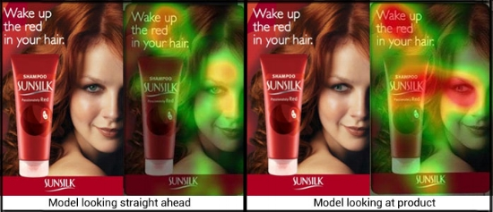 sunsilk think eye tracking eyetracking advertisement facial coding neuromarketing neuroscience comparison photoshop research consumer experience cx marketing
