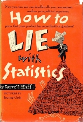Darrell Huff How to Lie With Statistics book cover math stats data