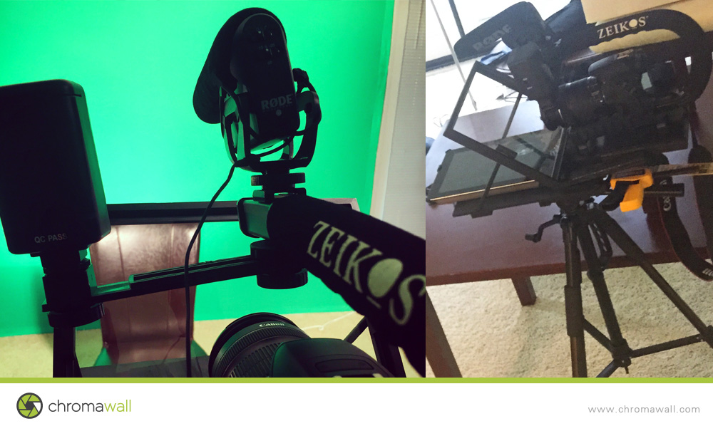 DIY Teleprompter — PORTABLE GREEN SCREEN KIT & PHOTO BOOTH POP UP