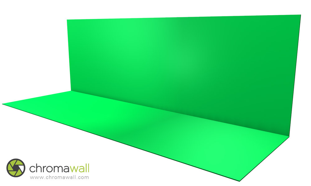 chroma key studio floor and wall