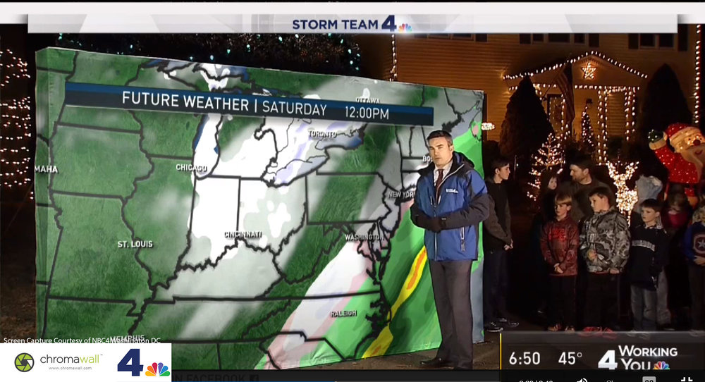 weather map green screen weatherman