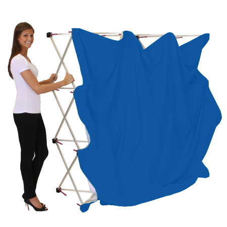 portable blue screen backdrop
