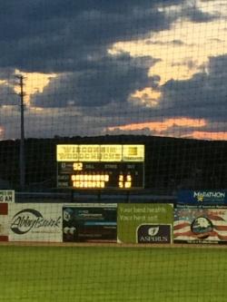 Sun setting over Athletic Park