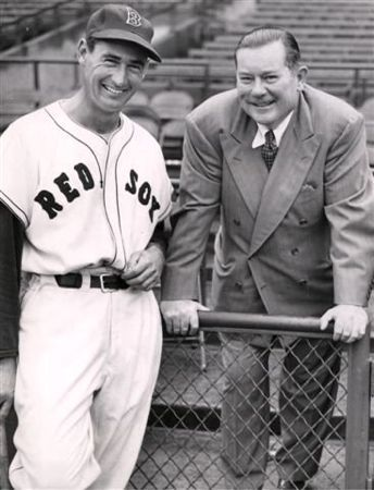 Thomas Yawkey with Ted Williams, both Hall of Famers Photo Credit:https://fenwaypark100.org/2012/03/17/the-anatomy-of-a-rivalry-the-fourth-stanza-back-from-the-darkness-of-the-abyss/