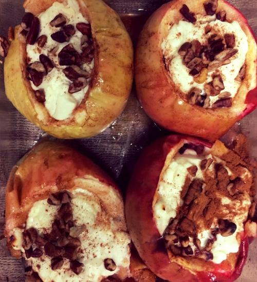 Cheesecake stuffed apples spread joy to friendly neighbors!