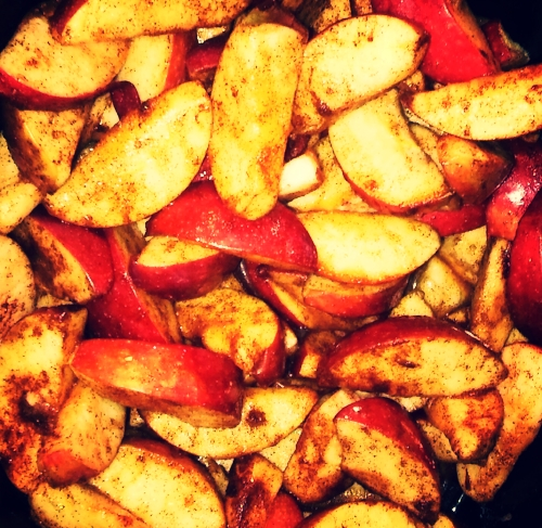 Crockpot cinnamon apples are a natural air freshener!