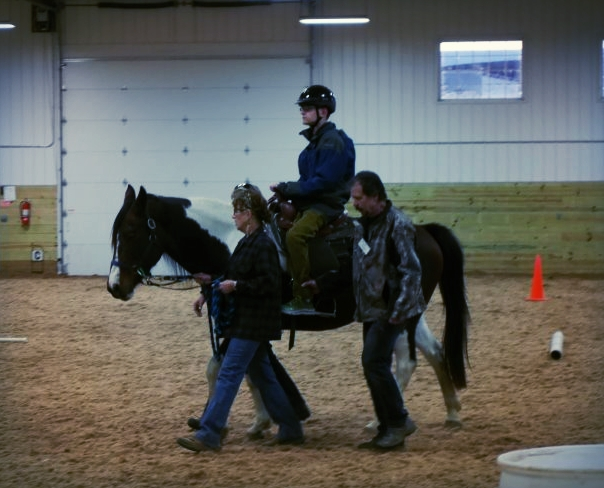 Sam, riding tall!