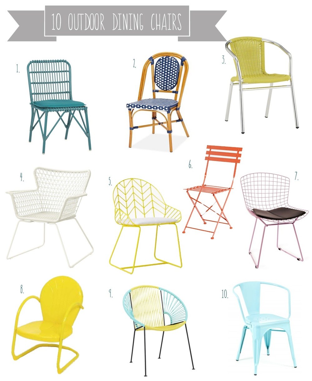 Metal outdoor dining furniture - Rex Chartreuse Dining Chair 70 4 Hogsten Dining Chair 80 5 Bend Dining Chair 249 6 Painted Metal Bistro Chair 98