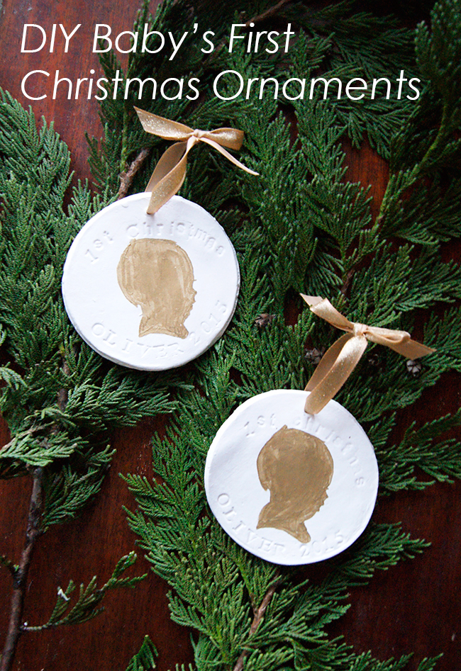 Diy Babys First Christmas Ornaments Undeclared Panache