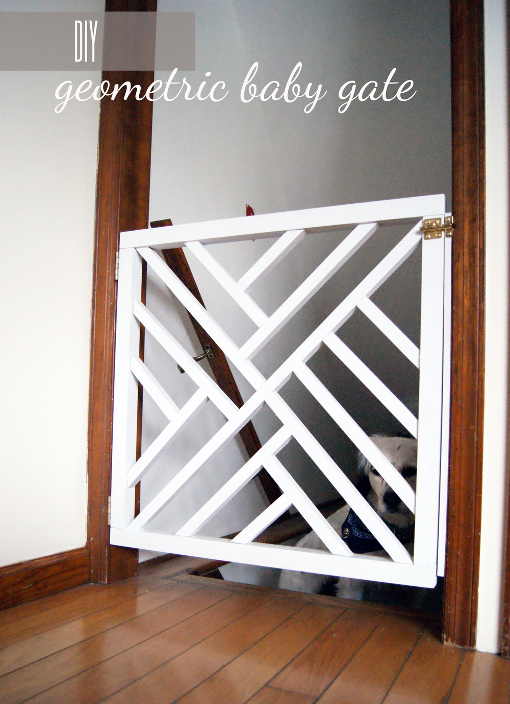 Diy Geometric Baby Gate Undeclared Panache