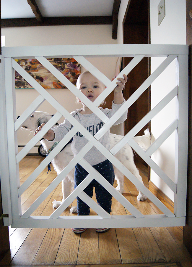 DIY Geometric Baby Gate