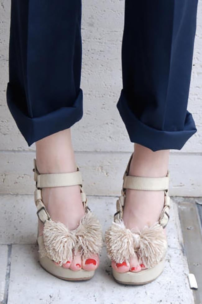 Raffia Bow Sandals