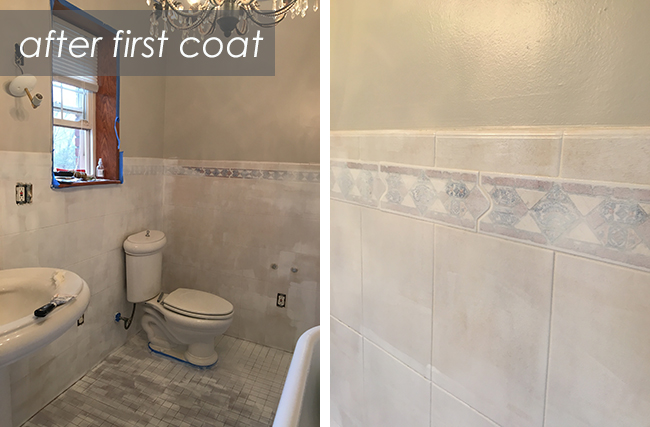 Painting Tile with Rustoleum