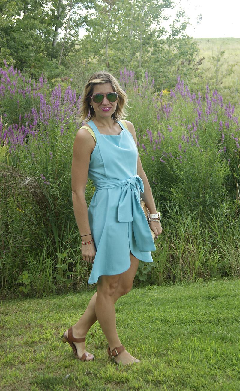 Bright Linen Dress