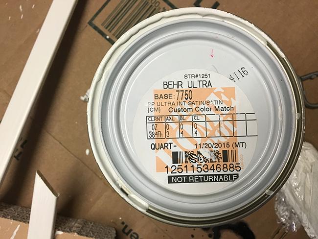 Ikea white cabinet color