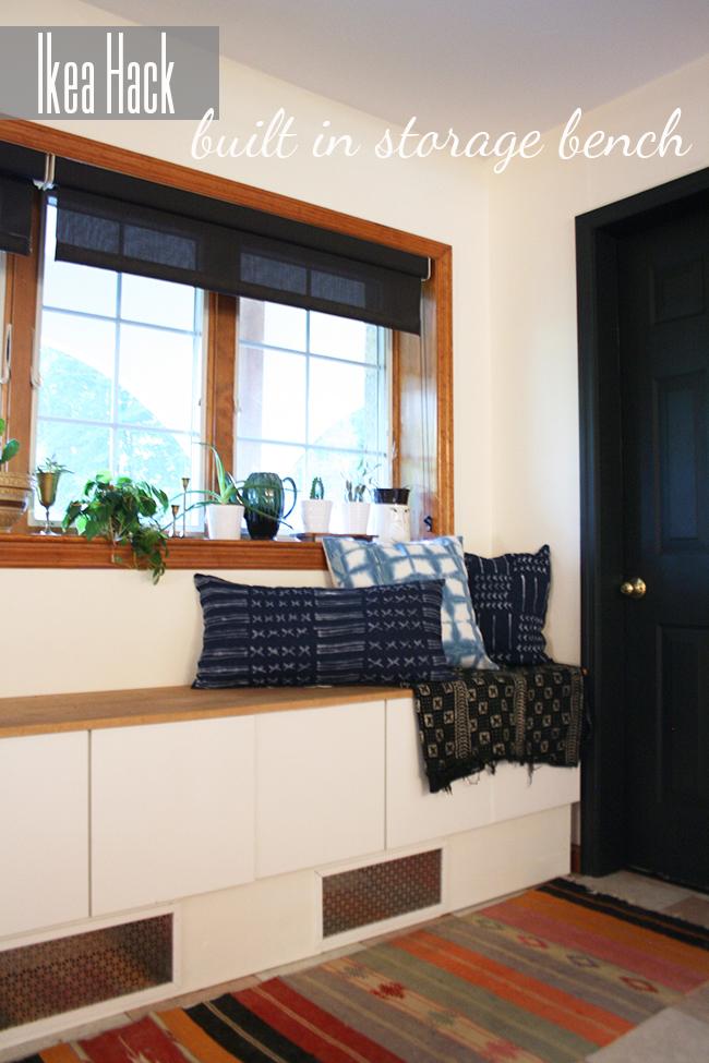 DIY Ikea Hack Built In Storage Bench