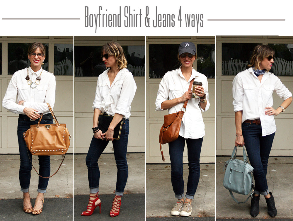 Button Up and Jeans styled 4 ways