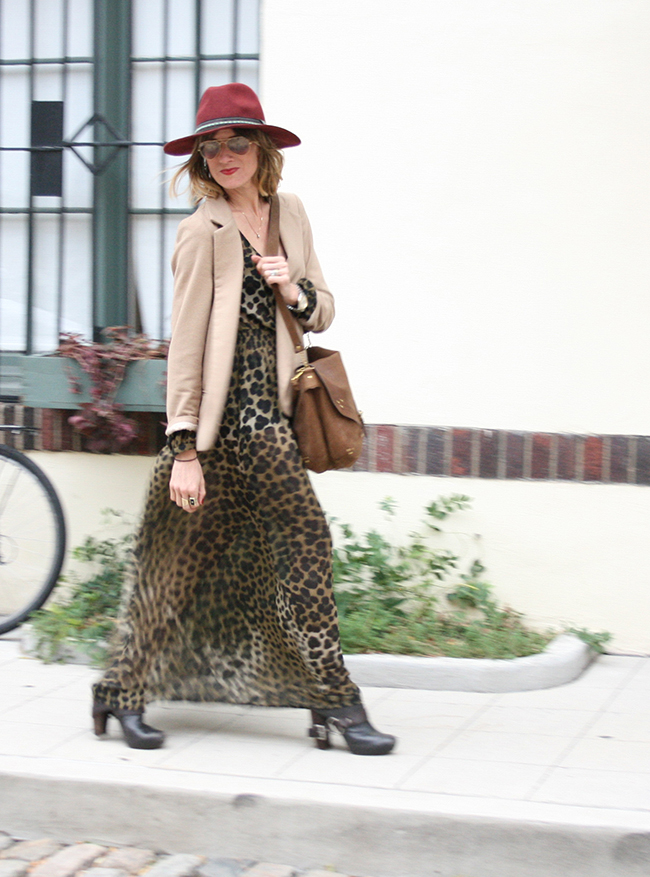 leopard maxi dress