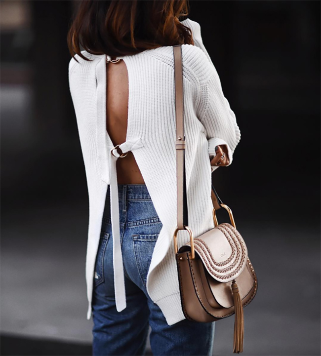 Fall Trend: Open Back Sweater