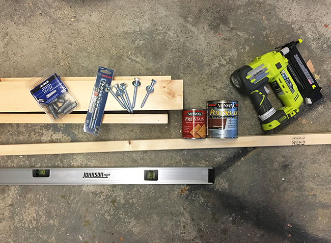 DIY Mantel Supplies