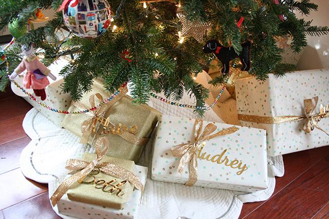 polkadot gift wrap