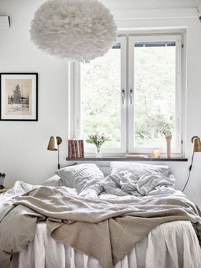 cozy minimal bed