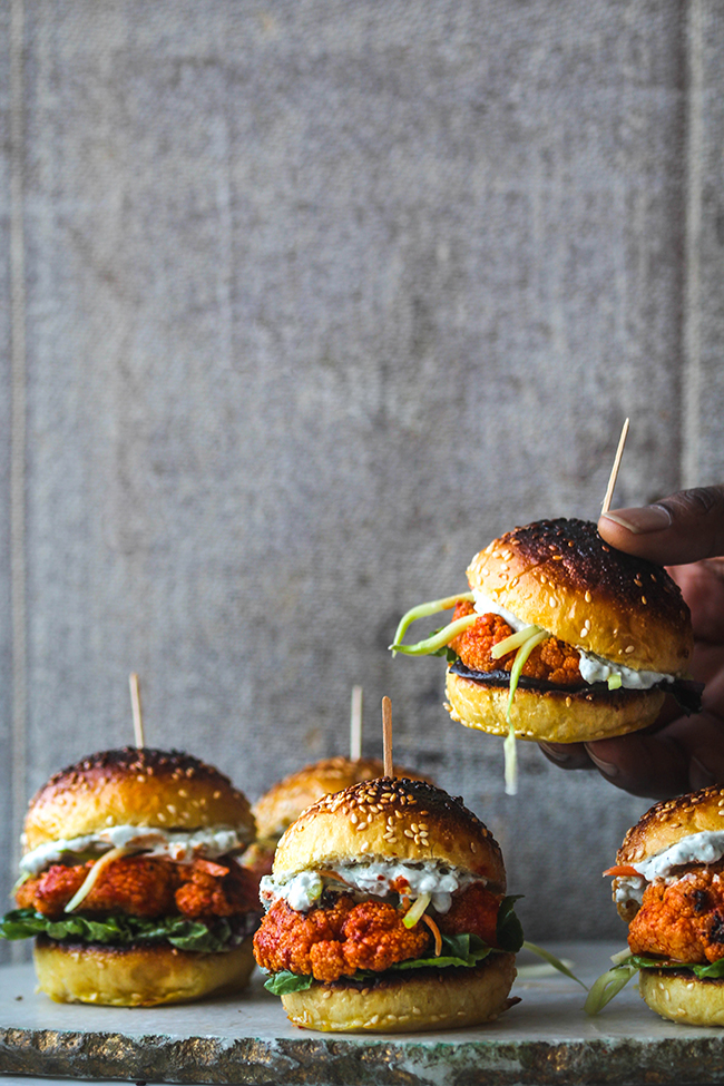 Cauliflower Buffalo Sliders