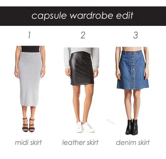 Capsule Wardrobe - skirts