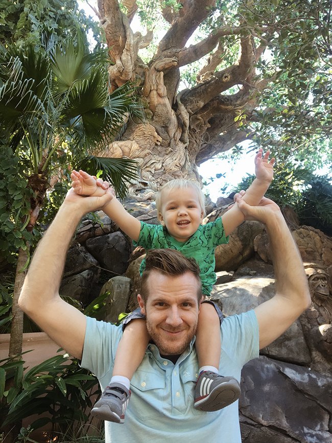 Dad+Son at Animal Kingdom