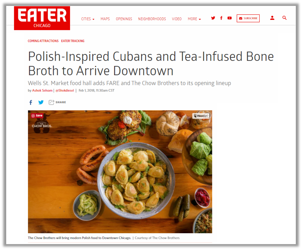 From Eater Chicago, Feb 1, 2018 -  https://chicago.eater.com/2018/2/1/16959148/loop-food-hall-wells-st-market-lineup-fare-healthy-chow-brothers-modern-polish